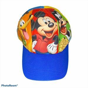 Disney Mickey Donald Character Youth Hat EUC